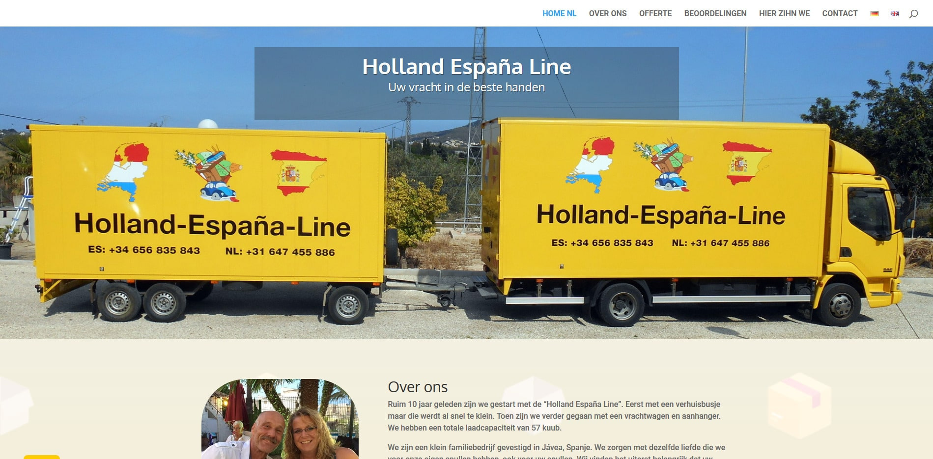 Webseite Holland-Espana-Line